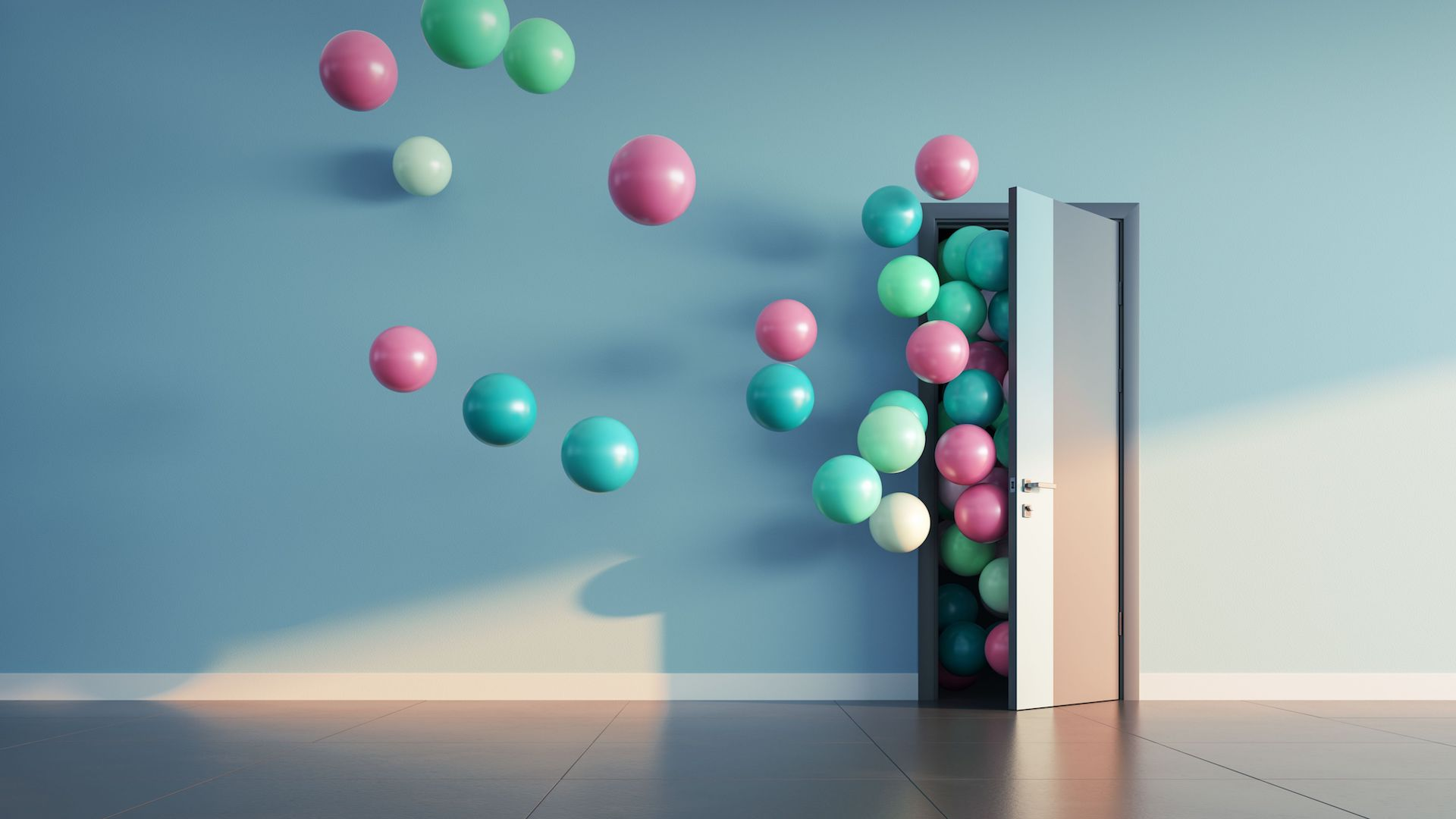 image-of-colorful-baloons-flowing-out-of-open-door