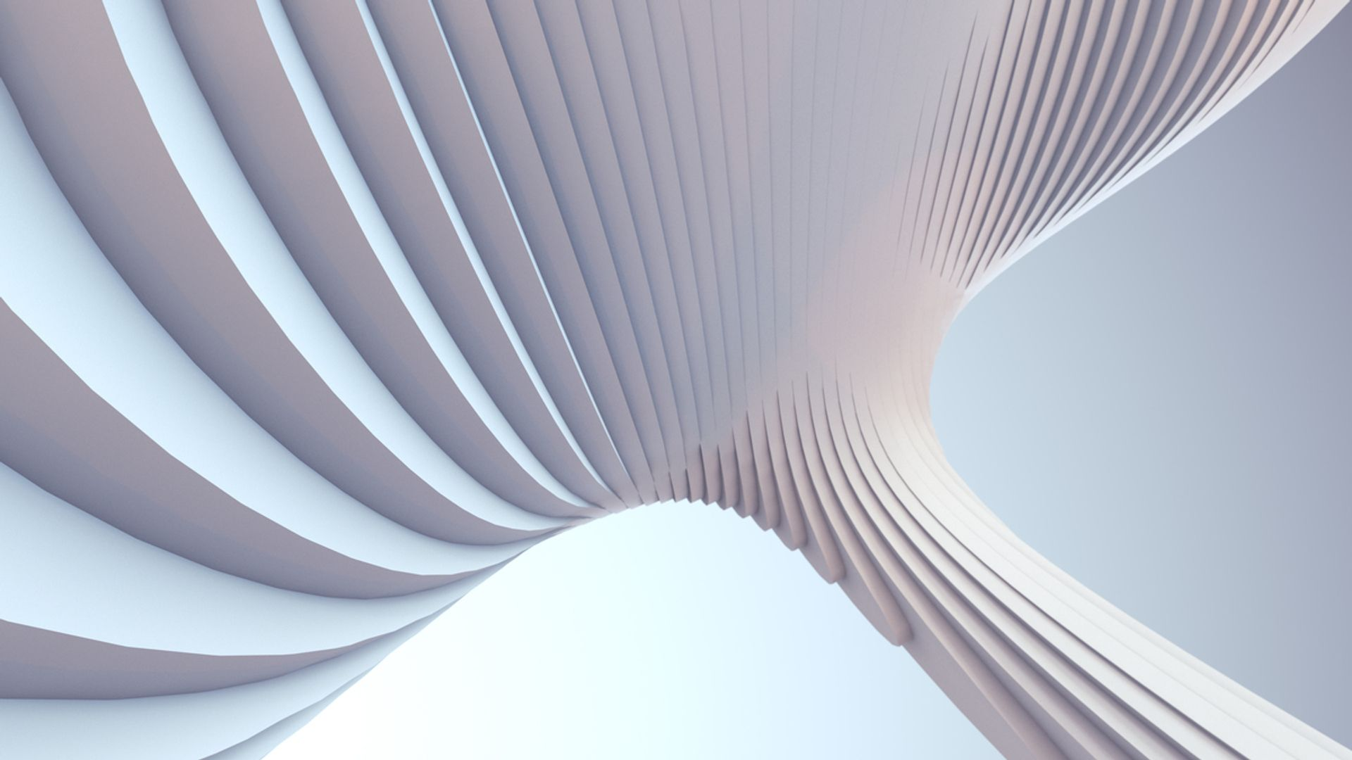 a large abstract white structure
